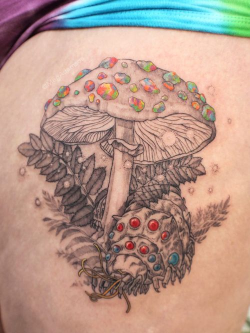 Nature tattoo by Meg Adamson #MegAdamson #ReliquaryTattoo #tattooartist #nature #biological #botanical #biologicalillustration #botanicalillustration #illustrative #watercolor #fineart
