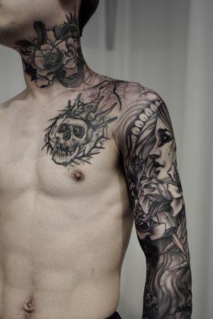#blackwork #tattoodo #koreatattoo #ssabtattoo