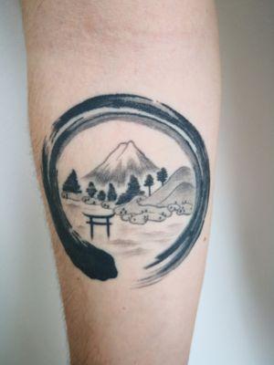 #enso #japanesetattoo #MountFuji #landscape
