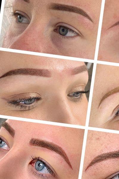 #Microblading #eyebrows #ombré