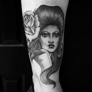Lady tattoo by Chuco Moreno #ChucoMoreno #Chicanotattoos #chicanotattoo #chicanx #chicano #chicana #CincodeMayo #Mexican #Mexico #tattooinspiration #besttattoos