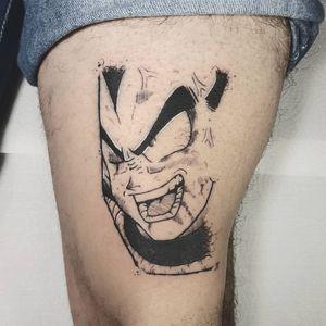 •Vegeta (Auto-tattoo). __________________________________________________ #tattoo #tattoorecife #tattoopernambuco #blackworkers #blackwork #darkartist #gokutattoo #goku #tattoope #dragonballsuper #dragonballz #tattooanime #anime_tattoosz #anime_tattoos #anime #dragonball #dragonballtattoo #tattoodragonball #vegetatattoo #tattoovegeta #vegeta #epicgamerink