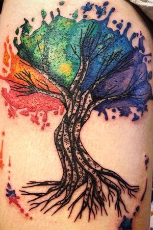 Watercoliu tree