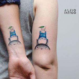 Design y tattoo by Alfio. Buenos Aires - Argentina / alfiotattoo@gmail.com / #totoro  #ghibli   #ghiblistudio   #fineline  #art #alfiotattoo #finelinetattoo #tattoo #tattooart #tattooartist