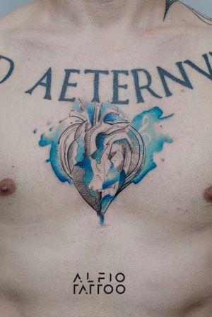Design y tattoo by Alfio. Buenos Aires - Argentina / alfiotattoo@gmail.com / #heart  #hearttattoo #fineline #art #tattoodesign #alfiotattoo #composition #sketch #finelinetattoo #watercolor #watercolortattoo #tattoo #tattooart #tattooartist