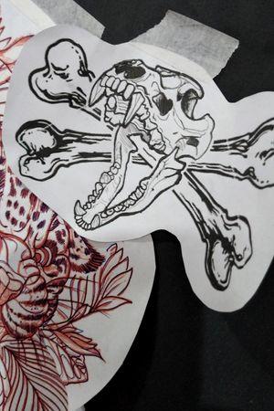 #dogskull #skulltattoo #crossbones