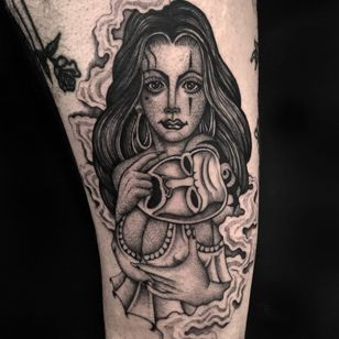 Teen Angels tattoo by Juan Diego Prieto #JuanDiegoPrieto #Chicanotattoos #chicanotattoo #chicanx #chicano #chicana #CincodeMayo #Mexican #Mexico #tattooinspiration #besttattoos