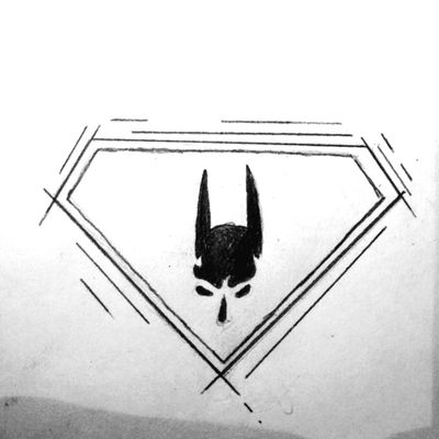 #batman #superman #batmanvsuperman #batmanlogo #DCTattoos #dccomics #smalltattoos