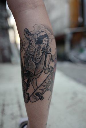 #vans #samurai #ssabtattoo #healedtattoo #koreatattoo