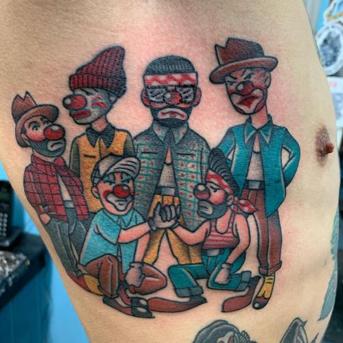 Crew tattoo by Panchos Placas #PanchosPlacas #Chicanotattoos #chicanotattoo #chicanx #chicano #chicana #CincodeMayo #Mexican #Mexico #tattooinspiration #besttattoos