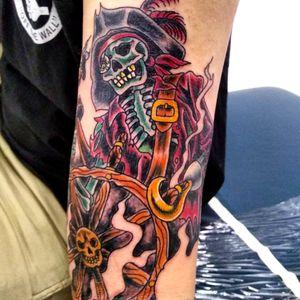 #piratetattoo#piratesofthecarribean#traditionaltattoo#colortattoo