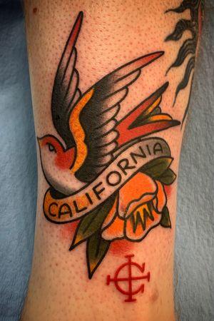#sparrow #poppy #california #traditionaltattoo