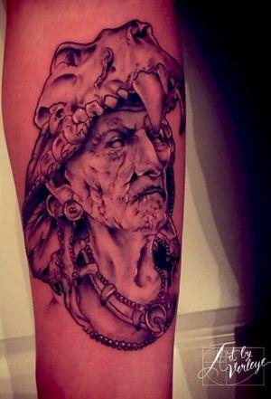 #indian #native #nativeamerican #skull #voodoo #witchdoctor #inked #Netherlands #Belgium #Tilburg #Antwerpen #ArtbyVerleye #getinked #tattooart