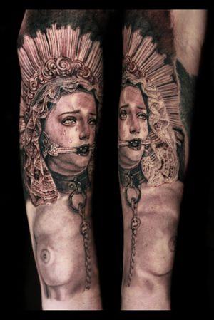 #mary #virginmary #guadalupe #bondage #BDSM #gag #choker #leash #catholic