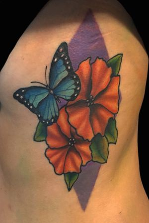 Flowers and butterflies!