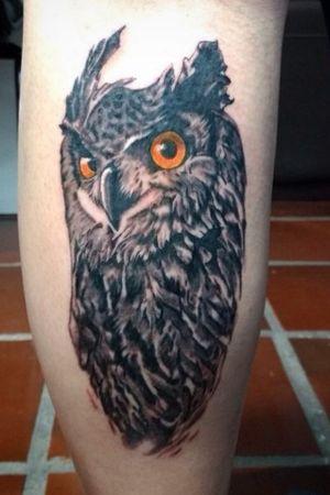 Coruja #owl #owltattoos #owltattoo #blackandgrey #blackandgray #blackandgraytattoo #blackandgreytattoo #realistic #realism