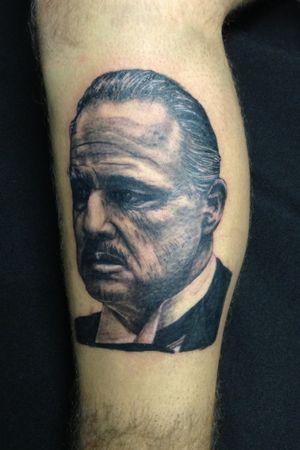 Dor Corleone #thegodfather #thegodfathertattoo #portrai #portraittattoo #blackandgrey #blackandgray #blackandgraytattoo #realistic #realism