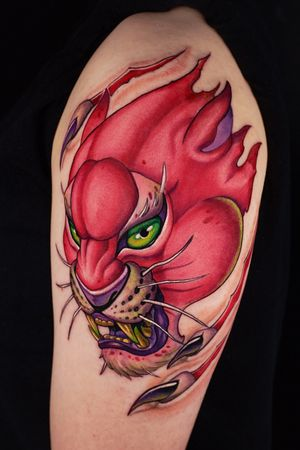 Pink panther for arm.