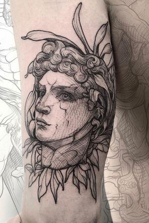 David #lescrowtattoo #art #antique #engraving #linework