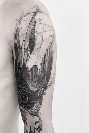Halcon #tattoo #halcon #anibal_tattoo #blackwork #tattoodo