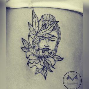 #buddha #tatuaje #tattoo #ink #blackandgray #pointilism