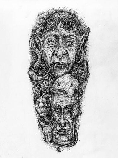 #arte #artista #dibujo #Spain #spaintattooart #spaintattoo #tatuaje #tattooart #tattoodesign #tattooidea #tattoosketch #beer #beertattoo #cerveza #vampiretattoo #vampire #graphic #graphicdesign #dot #dotwork #linework #blackwork #drawfolio #drawing #art #artist