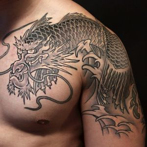 #japanesetattoo #koi #dragon