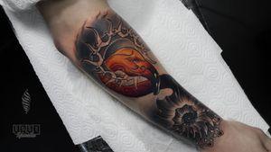"""""""Flamingo"""" Thanks Mathias for trust #radtattoos #killerink #flamingo #superbtattoos #tattooed"""