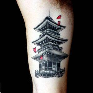 #japanesetattoo #pagoda