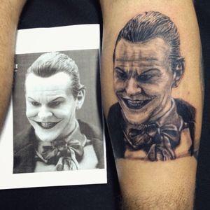 Coringa Jack Nicholson  #jokertattoo #Joker #jacknicholsonjoker #JackNicholson #realismo #realistic #realism #blackandgrey #blackandgray #blackandgraytattoo #blackandgreytattoo #portrait #portraittattoo
