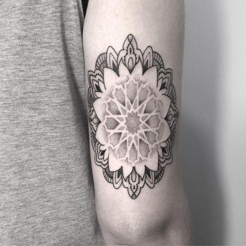 Symbol tattoo by Dulah #Dulah #symboltattoo #symboltattoos #symbol #symbols #tattooswithmeaning #meaningfultattoo #mandala #linework