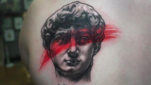 #portraittattoo #SculptureTattoo #portraiture #portraittattoos #facetattoo #statueofdavid #realismo #realism #realistictattoo #tatuaje #illustration #socalartist #temecula #realistictattoo #blackandgreyallday