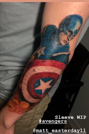 #marvel sleeve in progress
