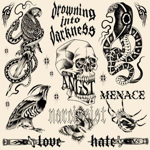 Drowning into darkness/ new flashs available. Dm me if you want one of these on ur skin babe. mikeend666@gmail.com or DM #flash #flashtattoo #flashsheet #flashs #snake #bird #parrot #blade #knife #skull #spider #butterfly #lettering #typography #blackwork #blackworker #darkart #dart #tribal #paris #lyon #berlin #londres #nyc