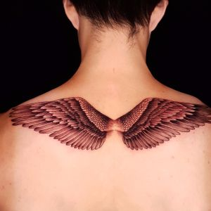 Simple wings on the back.