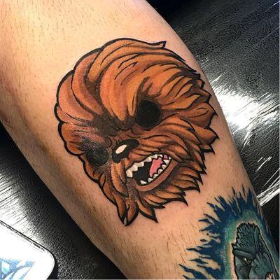Chewbacca tattoo by Kakasbal #Kakasbal #chewbaccatattoo #chewbacca #starwars #movietattoos #petermayhew #georgelucas #scifi