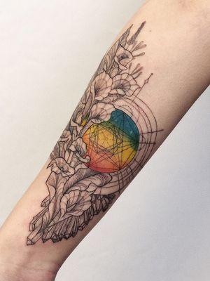#black#blackwork#floral#linework#dotwork#tattooartist#color#rainbow#geometric