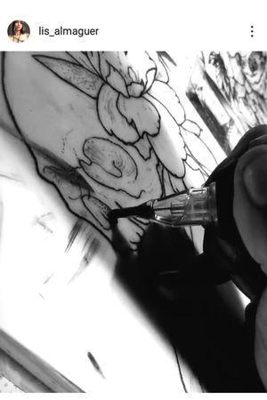 #skulltattoo #CalaveraTattoo #flowertattoo #flor