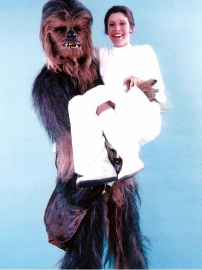 Chewbacca and Princess Leia photoshoot! #chewbaccatattoo #chewbacca #starwars #movietattoos #petermayhew #georgelucas #scifi