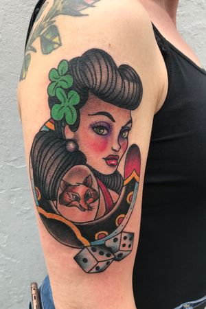 #pinup#pinupgirl#trafitional #traditionaltattoo #ladyluck#ladylucktattoo