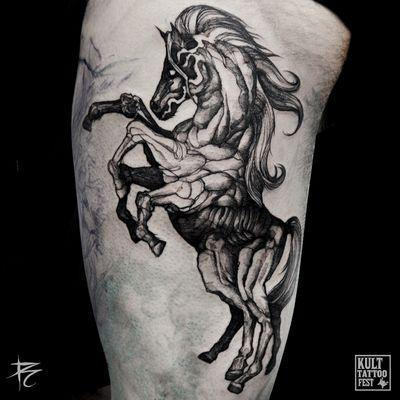 #sleipnir #nordic #odin #horse #blackwork #linework #black