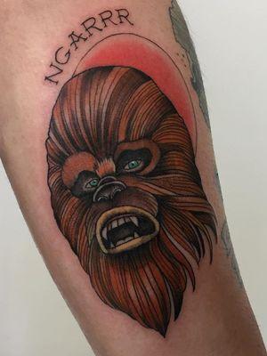 Chewbacca tattoo by Tina Teina #TinaTeina #chewbaccatattoo #chewbacca #starwars #movietattoos #petermayhew #georgelucas #scifi