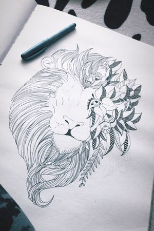 #progress #lion #animal #liner