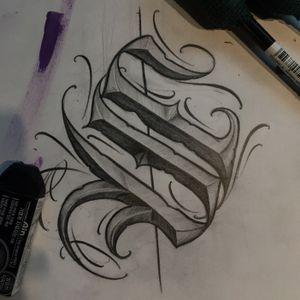 """"""" S """" . . . #crystal #🇰🇷 #todaysketch #blacklettering #script #blackletters #calligraphy #customlettering #letteringtattoo #customtattoo #scripttattoo #lettering #letras #tattoo #dailysketch #handdrawing #calligraphytattoo #calligrafy #blackcalligraphy #chicanolettering #chicanotattoo #치카노레터링 #커스텀레터링 #치카노타투 #레터링타투 #캘리그라피타투 #데일리스케치 #치카노"""