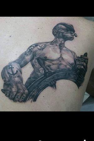 3d Popeye tattoo