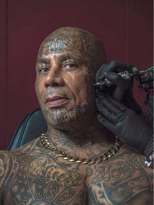 Paul Harper - Portrait photography by Mark Leaver #MarkLeaver #photography #photographer #tattoophotography #tattoos #tattoomodel #tattooportrait #bodymodification #bodymod #bodyart #heavilytattooed #fineart #tattooart