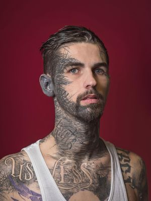 Gino Dartnall - Portrait photography by Mark Leaver #MarkLeaver #photography #photographer #tattoophotography #tattoos #tattoomodel #tattooportrait #bodymodification #bodymod #bodyart #heavilytattooed #fineart #tattooart