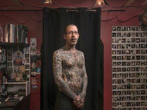 Duncan X - Portrait photography by Mark Leaver #MarkLeaver #photography #photographer #tattoophotography #tattoos #tattoomodel #tattooportrait #bodymodification #bodymod #bodyart #heavilytattooed #fineart #tattooart