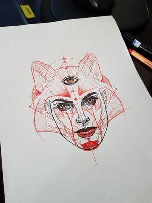 Mulher/lobo disponivel