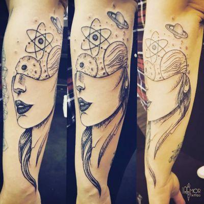 #cosmic #mind #lining #portrait